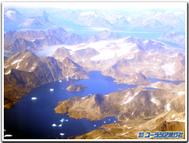 グリーンランド空撮