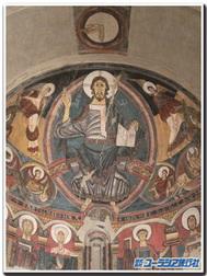 タウール、サンクレメンテ教会のフレスコ画(カタルーニャ美術館蔵)