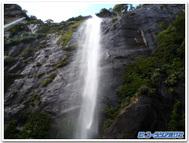 雨の後に出現する白滝