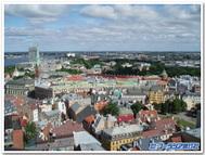 ラトビアの首都リガの街並み