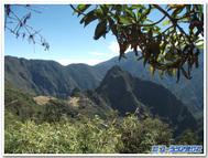 インテュプンクへのインカ古道よりマチュピチュ遺跡を望む