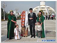 ヴェールをしたトルクメニスタンの花嫁さん
