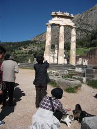 ギリシャ、デルフィのアテネ聖域