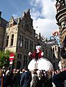 ベルギー、イーペルの猫祭りにて、女王猫