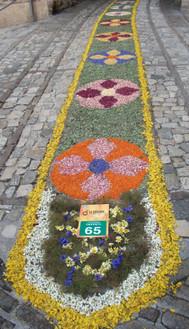 イタリア、スペッロのインフィオラータ(花絨毯)にて