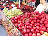 クロアチアの市場にて