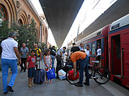 アルメニア、首都エレバン駅にて