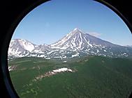 ユーラシア旅行社のカムチャツカツアー:ヘリコプターからの風景