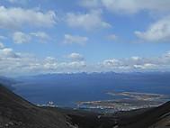 ビーグル海峡とチリの島々の眺め