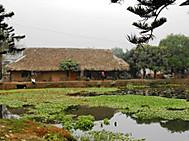 ユーラシア旅行社のベトナムツアー、ドンラム村にて