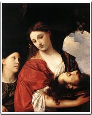 ティツィアーノ/洗礼者ヨハネの首を持つサロメ