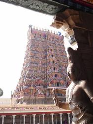 南インド、マドゥライのミナークシ寺院