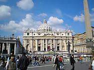 ローマ、ヴァチカンのサンピエトロ寺院