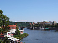 プラハを流れるモルダウ川