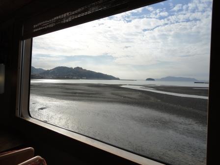 おれんじ食堂車窓からの景色