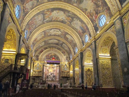 ヴァレッタの大聖堂にて