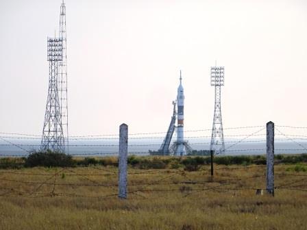 打ち上げ間近のソユーズロケット