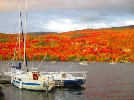 モン・トランブランの鮮やかな紅葉