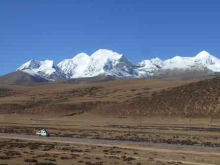 青海チベット鉄道の車窓からの景色