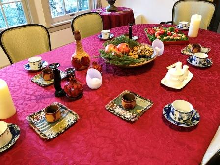 クリスマスでの食卓の様子