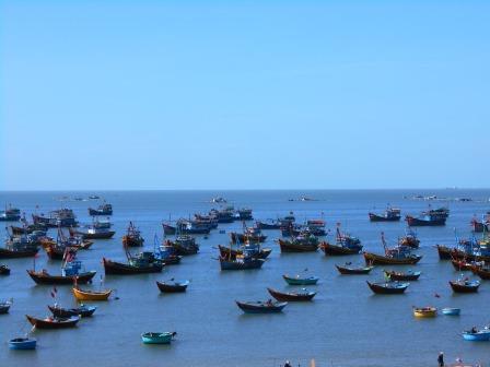 ムイネーの漁港