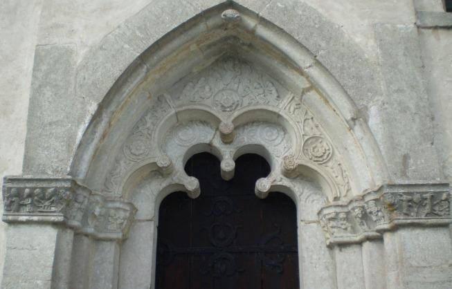 シェーリンゲ教会の扉口/ゴットランド島