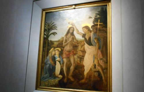 ヴェロッキオ「キリストの洗礼」