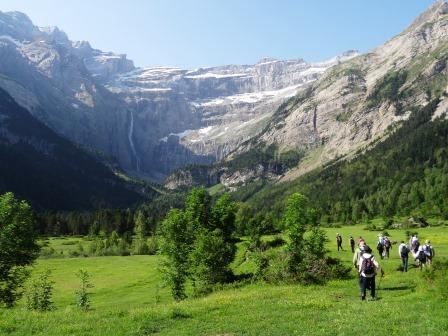 ガヴァルニー圏谷でのハイキング