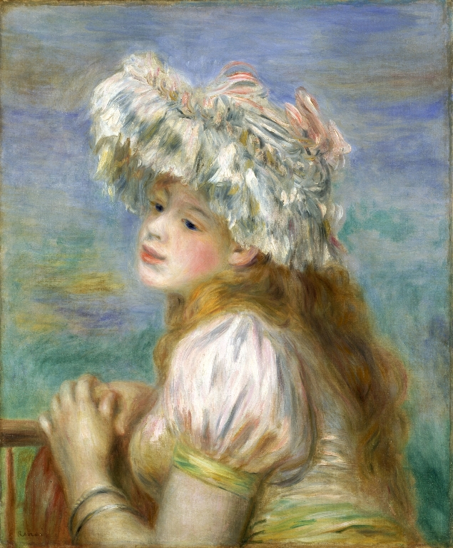 ピエール・オーギュスト・ルノワール《レースの帽子の少女》/ポーラ美術館