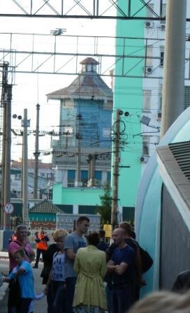 駅で見かけた給水塔