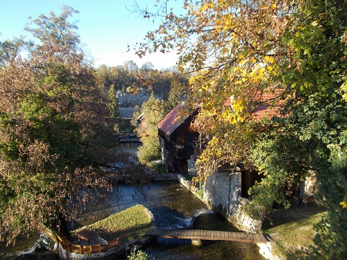 ラストケ村の風景(クロアチア)