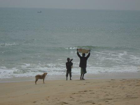 奴隷海岸の平和な風景