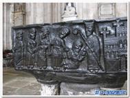 英国、ウィンチェスター大聖堂の洗礼盤