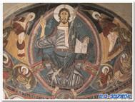 タウール「サンクレメンテ教会」全能のキリスト(バルセロナ、カタルーニャ美術館蔵)