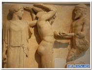 ギリシャ、オリンピアのゼウス神殿の破風(古代オリンピア考古学博物館)