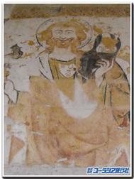 フランス、ラヴァルダンのサン・ジュネ教会の聖クリストフォロス