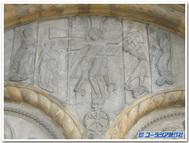 フランス、オロロン・サント・マリー「サントマリー教会」の十字架降架