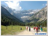 フランス、ガヴァルニー圏谷ハイキング