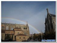 スペインアストルガの大聖堂と司教館