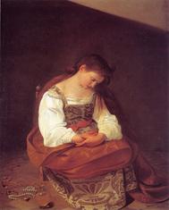 カラヴァッジョの「悔悛のマグダラのマリア」