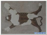 トラの敷物モザイク-チュニス、バルドー博物館蔵