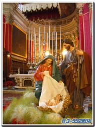 マルタ、ゴゾ島のビットリア大聖堂のプレゼピオ