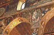 イタリア、シチリア島、パレルモ、ノルマン王宮のパラティーナ礼拝堂