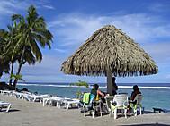 クック諸島ラロトンガ、エッジヲーターリゾート&スパホテルにて