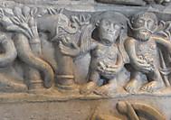 イタリア、チロル城のアダムとイヴ