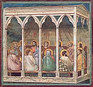 イタリア、パドヴァのスクロヴェーニ礼拝堂のジョットによる聖霊降臨