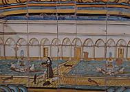 ナポリのサンタキアラ教会絵タイル