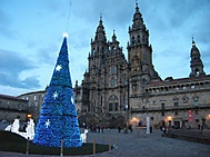 サンティアゴ・デ・コンポステラのクリスマスイルミネーション