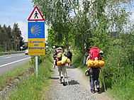 北スペイン、サンティアゴ・デ・コンポステラツアー、巡礼路歩きにて