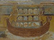 世界遺産サン・サヴァン教会の天井画(ノアの箱舟)